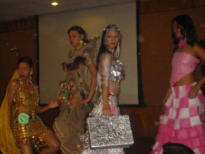 LES Creative Recyclable Fashion Show contestants